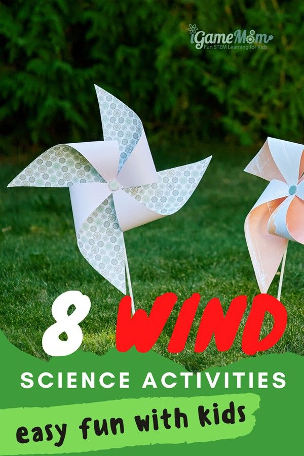 Fun easy wind science experiments for kids learn wind power, renewable energy at home. Hands-on outdoor STEM projects activities for weather unit or nature unit for spring and fall for preschool kindergarten school age.