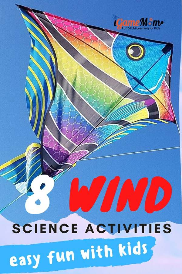 Fun easy wind science experiments for kids learn wind power, renewable energy. Hands-on STEM projects activities for weather unit or nature unit for spring and fall. preschool kindergarten school age. Spring science. fall science