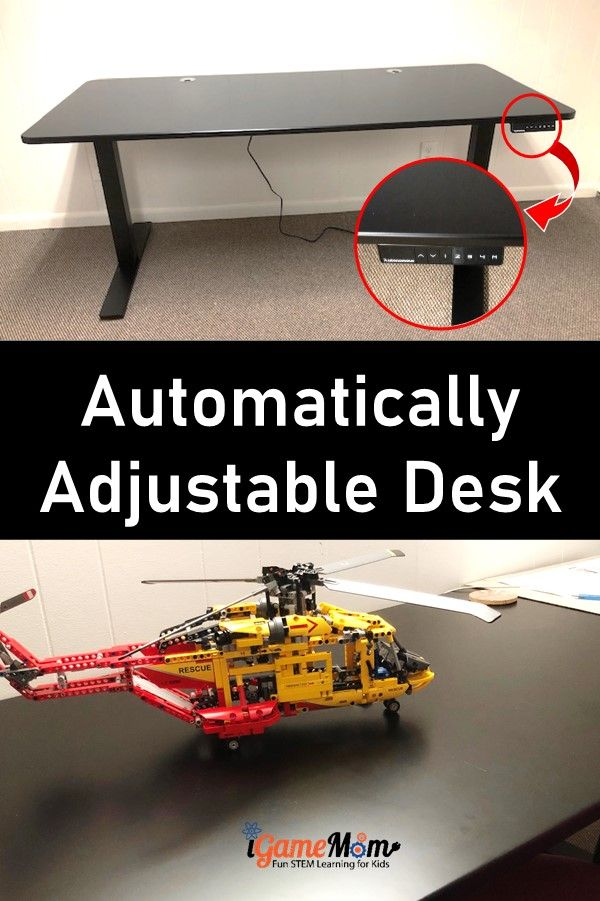 Autonomous smart desk, automatically adjustable height for everyone in the family