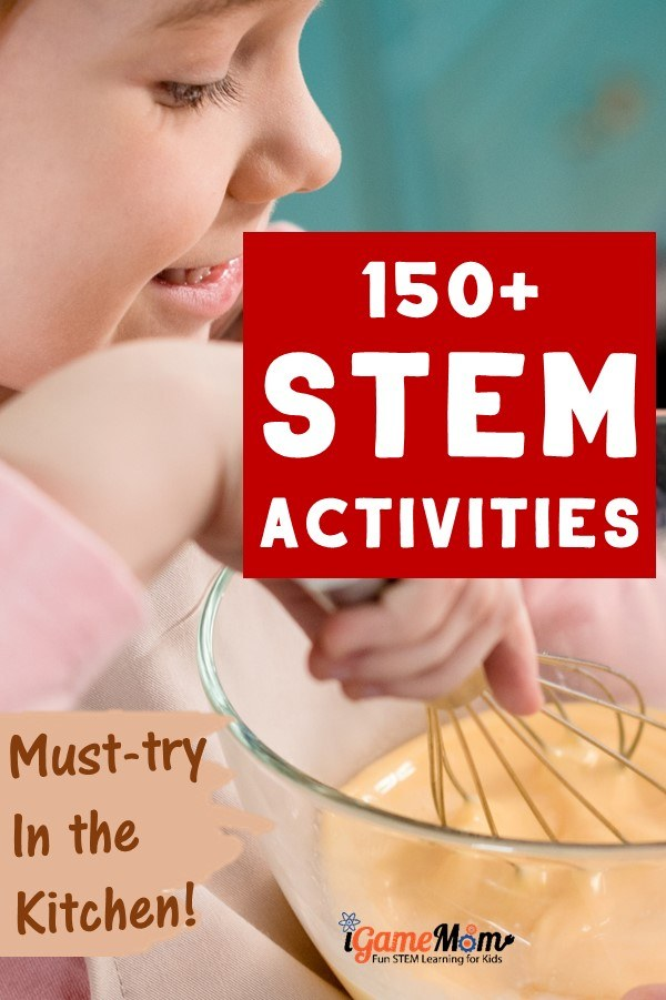 Turn kitchen into STEM laboratory at home! Easy summer and winter STEM (science technology math engineering) activities for kids to learn everything in STEM discipline, with easy to find materials and amazing effects. Must-try easy fun with kids in the kitchen.