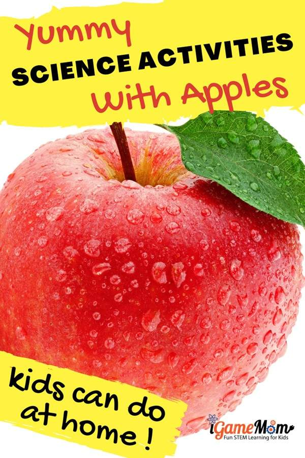 Apple science experiments kids can do at home. Fun kitchen STEM science activities for preschool to grade 6, at home, school or homeschool science class. Fall Science activity ideas