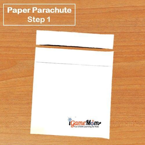 Paper Parachute Step 1 - iGameMom