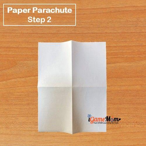 Paper Parachute Step 2 - iGameMom