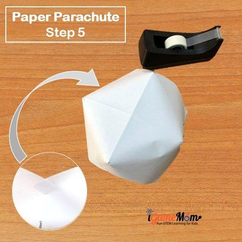 Paper Parachute Step 5 - iGameMom