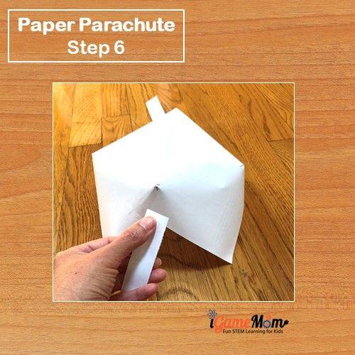 Paper Parachute Step 6 - iGameMom