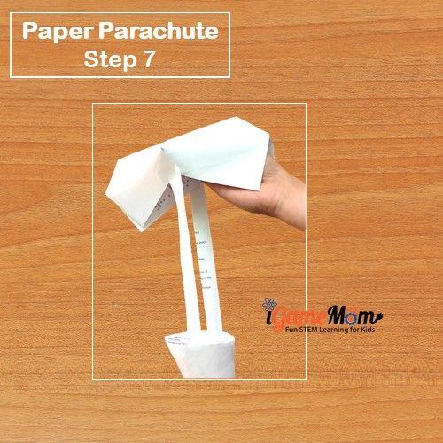 Paper Parachute Step 7 - iGameMom