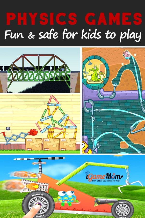 Fun physics games that are safe for kids to play, including apps and websites, kids as young as preschool age can play and learn science at the same time. Fun STEM activities for kids.